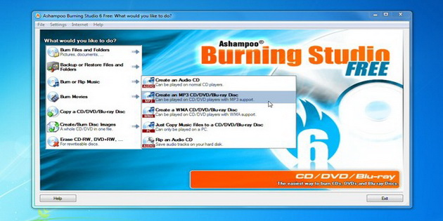 Software DVD Burning Gratis Ashampoo