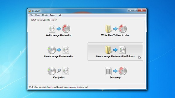 Software DVD Burning Gratis ImgBurn