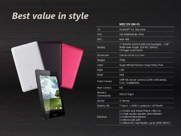 Tablet Asus MeMO Pad_E