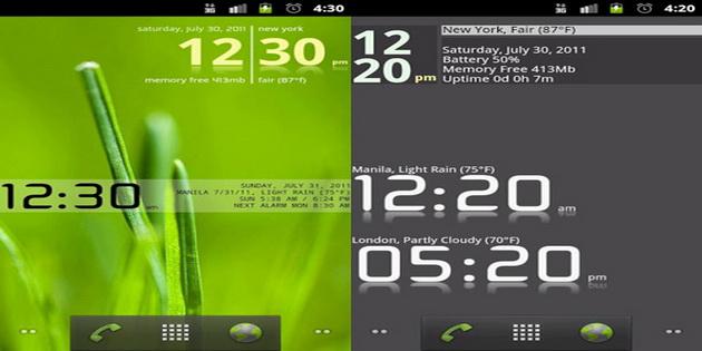 Aplikasi Widget Jam dan Kalendar Untuk Android advance-clock-widget