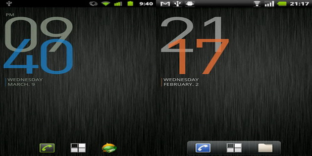 Aplikasi Widget Jam dan Kalendar Untuk Android bobclockd3