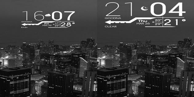 Aplikasi Widget Jam dan Kalendar Untuk Android lines-clock
