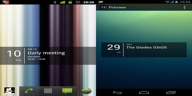 Aplikasi Widget Jam dan Kalendar Untuk Android simple-calendar-widget