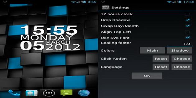 Aplikasi Widget Jam dan Kalendar Untuk Android typoclock