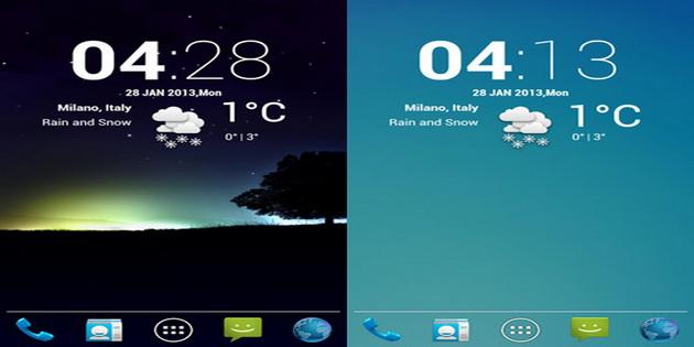 Aplikasi Widget Ramalan Cuaca Android cLock-weather-widget