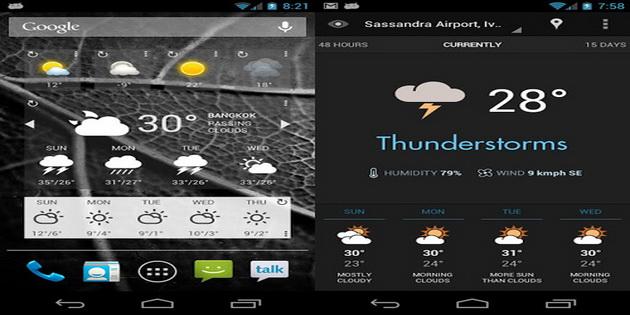 Aplikasi Widget Ramalan Cuaca Android eye-in-the-sky