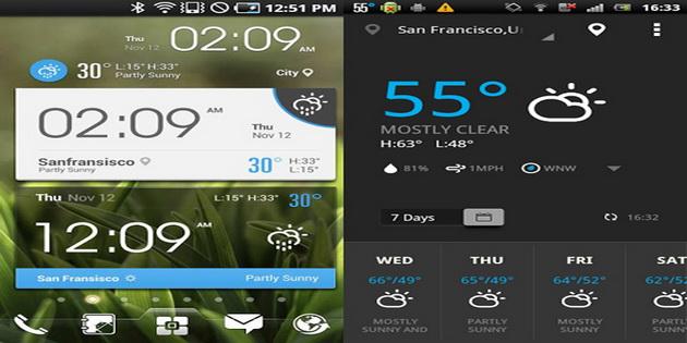 Aplikasi Widget Ramalan Cuaca Android ez-clock-and-weather-widget