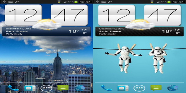 Aplikasi Widget Ramalan Cuaca Android sense-v2-flip-clock-weather-widget