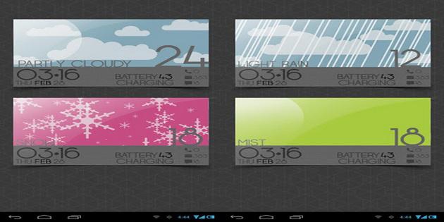 Aplikasi Widget Ramalan Cuaca Android weather-cards