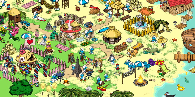 Download Gratis Games Android Anak Smurfs Village_C1