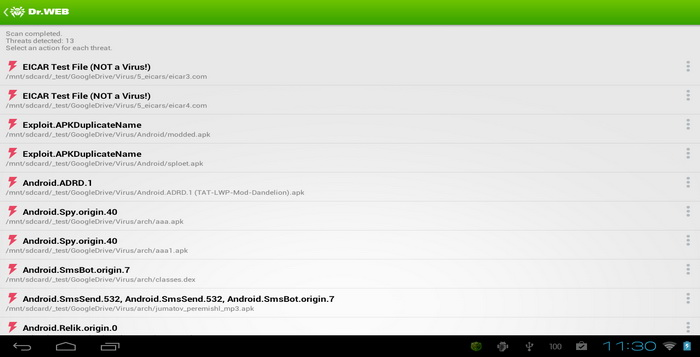Aplikasi Android Dr_Web Anti-Virus Light_E