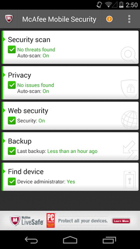 Aplikasi Android McAfee Antivirus Security_A
