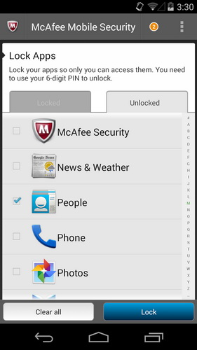 Aplikasi Android McAfee Antivirus Security_C