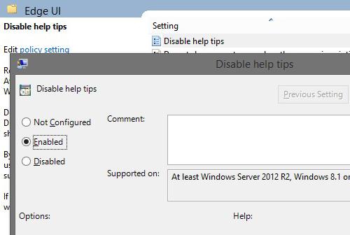 Cara Permanen Menonaktifkan Fitur Help Tips Windows 8_C