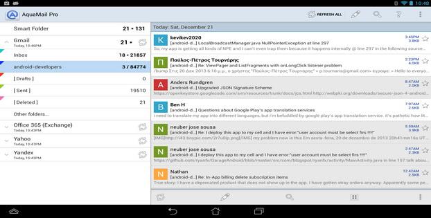 Daftar Alternatif Untuk Aplikasi Email Android Aqua Mail