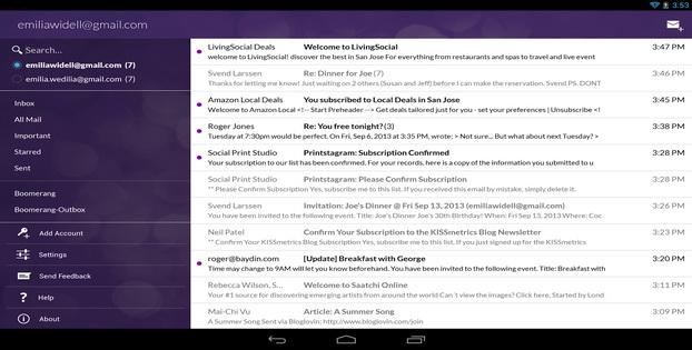 Daftar Alternatif Untuk Aplikasi Email Android Boomerang