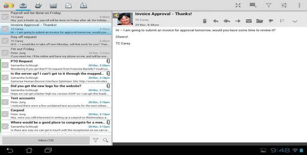 Daftar Alternatif Untuk Aplikasi Email Android Touchdown
