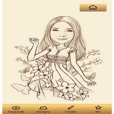 MomentCam iPhone dan Android Membuat Karikatur Dari Foto_A