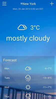 Ramalan Cuaca Pada Layar Dengan Solo Weather Android_B