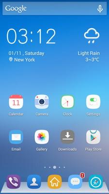 Ramalan Cuaca Pada Layar Dengan Solo Weather Android_D