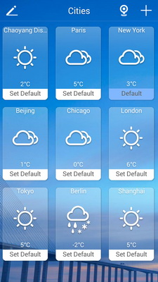 Ramalan Cuaca Pada Layar Dengan Solo Weather Android_E