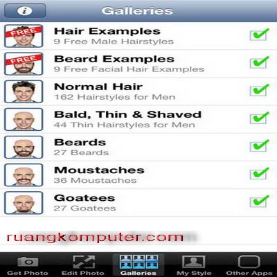 Rambut Terbaru dengan iPhone Aplikasi Foto Hair Beard Lite_B