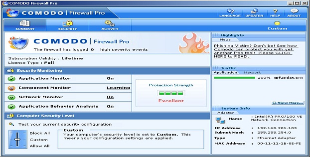 Software Firewall Terbaik Malware Windows_Comodo_B