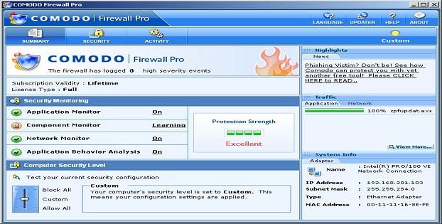 Software Firewall Terbaik Malware Windows_Comodo_B