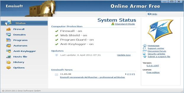 Software Firewall Terbaik Malware Windows_Online_Armor_C