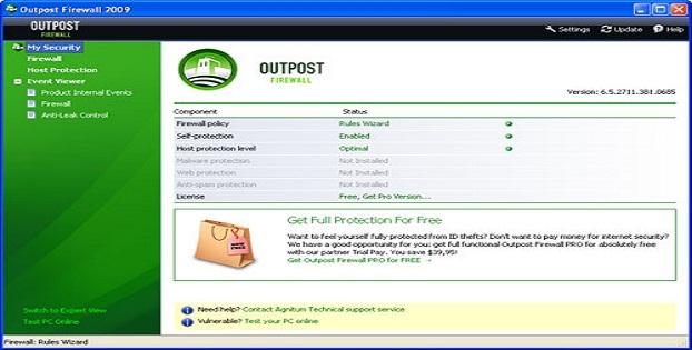 Software Firewall Terbaik Malware Windows_Outpost_E