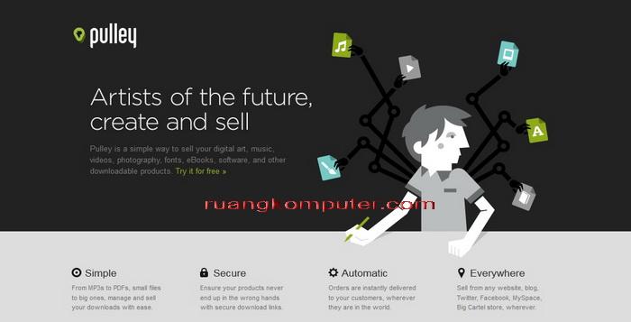 Website Online Top Untuk Menjual Produk Digital PulleyAPP_E