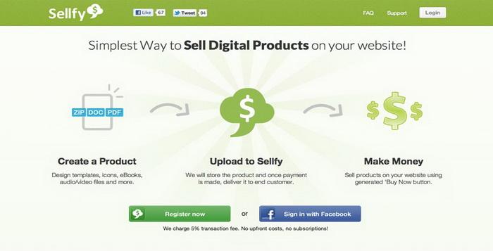 Website Online Top Untuk Menjual Produk Digital Sellfy_D