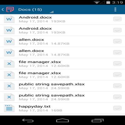 Aplikasi Pengelola File Dan Sisa Memori Tomi File Manager_D