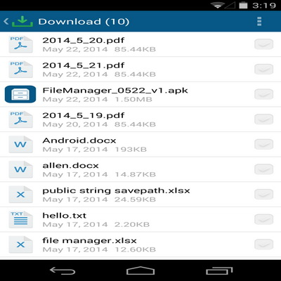 Aplikasi Pengelola File Dan Sisa Memori Tomi File Manager_F