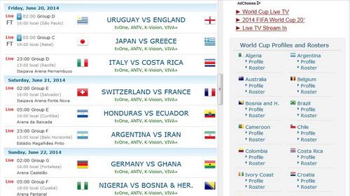 Situs Web Untuk Tontonan Live Streaming Piala Dunia FIFA 2014_G