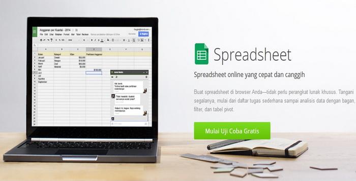 4 Alternatif Gratis Selain Dan Seperti Google Spreadsheet