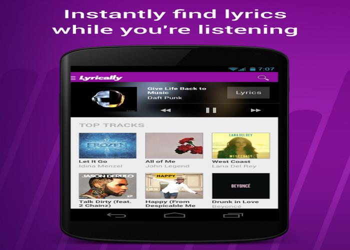 4 Aplikasi Android Gratis Untuk Pencari Lirik Lagu Terbaru-B
