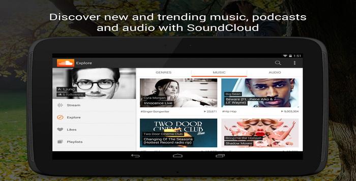 Aplikasi Musik Online Streaming SoundCloud Android