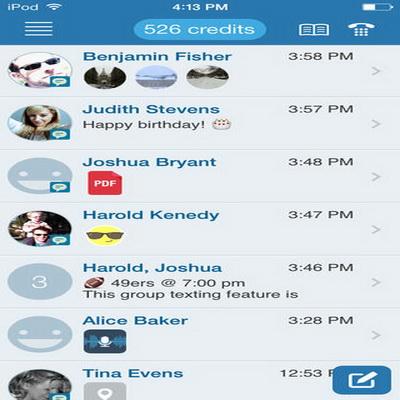 Aplikasi Pesan Teks SMS Chatting Terbaik iPhone 2014_I