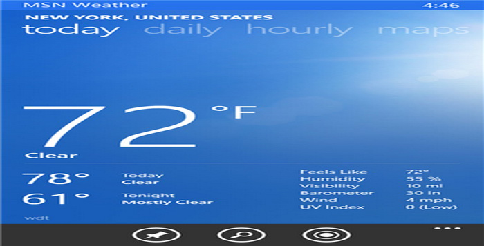 Aplikasi Ramalan Cuaca Gratis Dan Terbaik Windows Phone