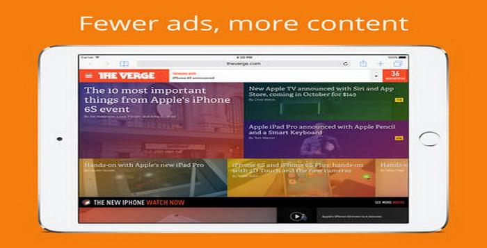Aplikasi Terbaik Untuk Memblokir Iklan Versi iPhone Dan iPad