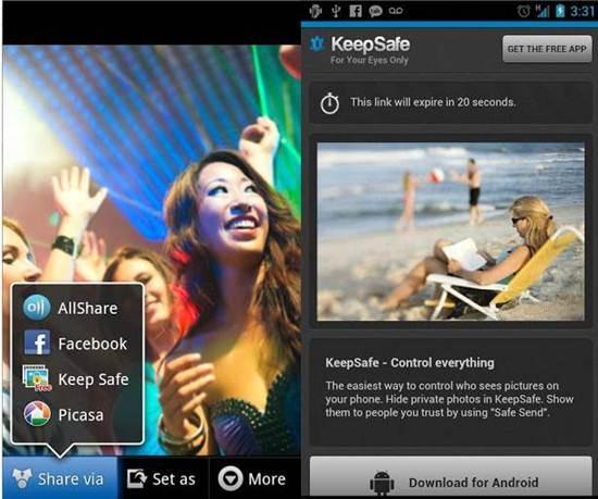 Sembunyikan foto video Android keepSafe Vault_C