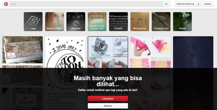 Situs Web Gratis Seperti Pinterest Untuk Website Berbagi Foto