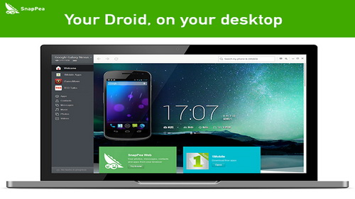 SnapPea Windows Mengelola Smartphone Android PC_A