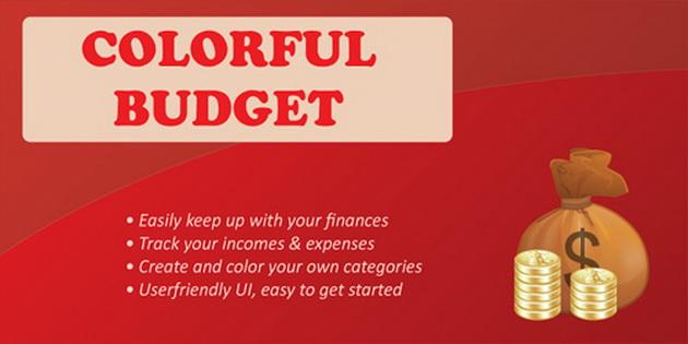 Aplikasi Android Untuk Mengelola Keuangan colorful-budget