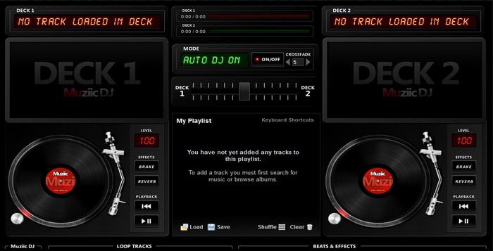 Belajar DJ Dengan Situs Virtual Online Gratis DJ Mixer